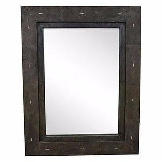 French Shagreen Framed Mirror
