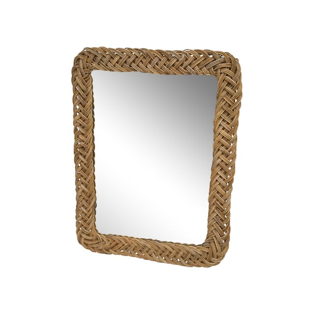 1960's Modern Rattan Mirror - Image 1 of 7