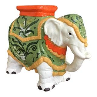 1970s Palm Beach Chic Elephant Garden Stool For Sale