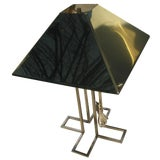 Image of 1970s C. Curtis Jere Vintage Brass Table Lamp With Shade For Sale