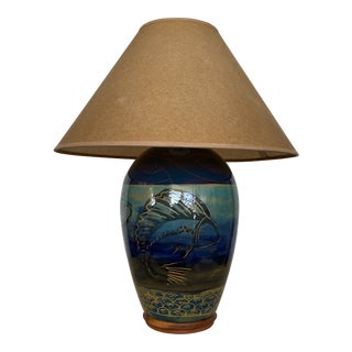 1960s Studio Pottery Table Lamp For Sale