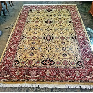 Large Vintage Red and Gold Persian Tabriz Area Rug Preview