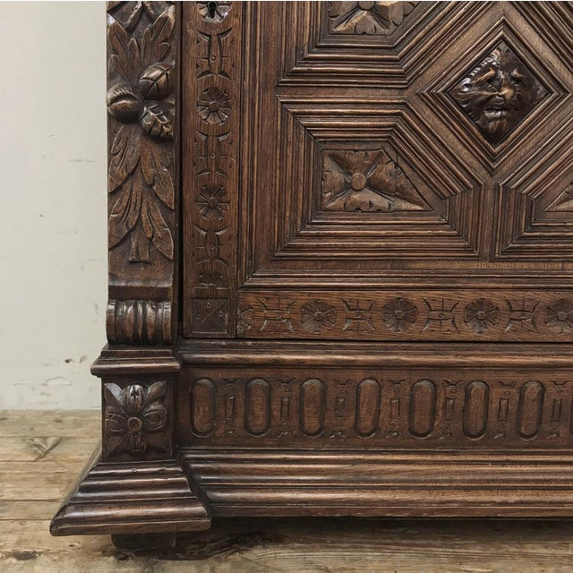 Brown 19th Century Flemish Renaissance Cabinet For Sale - Image 8 of 13