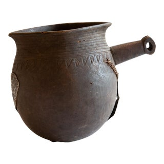 Antique African Wooden Pitcher For Sale