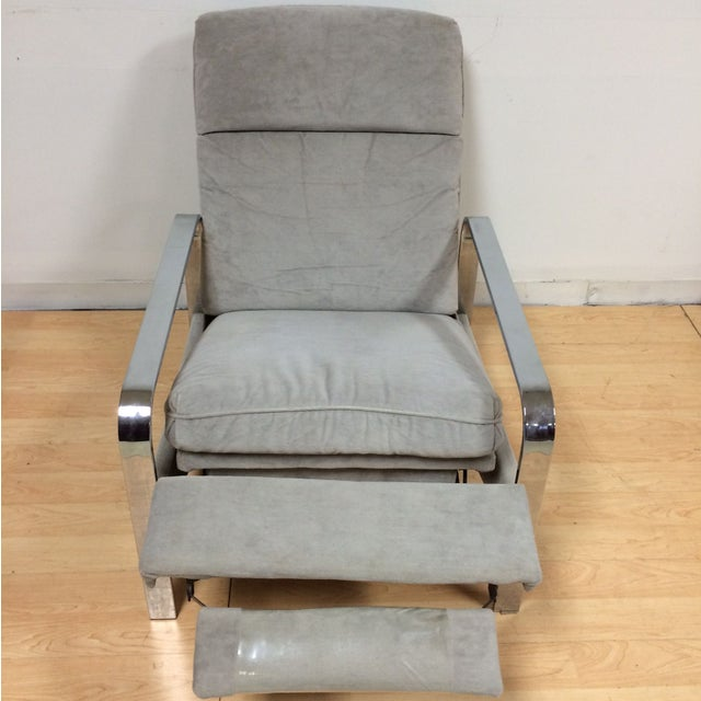 Mid-Century Modern Milo Baughman Chrome Recliner For Sale - Image 3 of 8