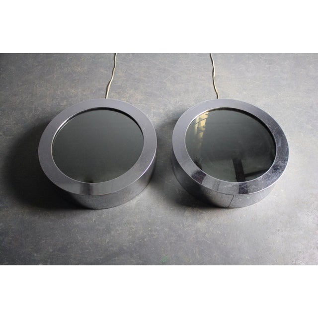 Round Chrome Infinity Mirrors - A Pair For Sale - Image 5 of 5