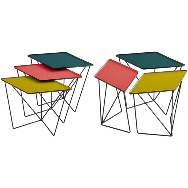 """The Paradox nesting tables were created exclusively for the CB2 collaborative """"The Design Collab."""" Designed for creative..."""