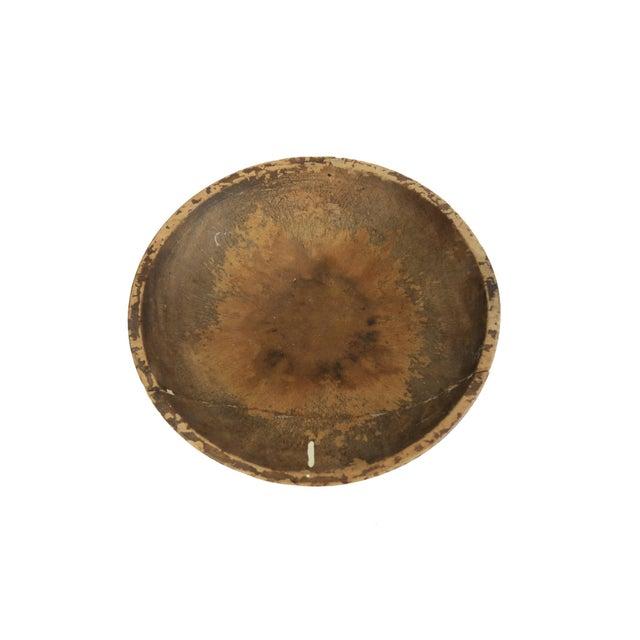 Antique Primitive Wood Round Dough Bread Bowl - Image 2 of 3