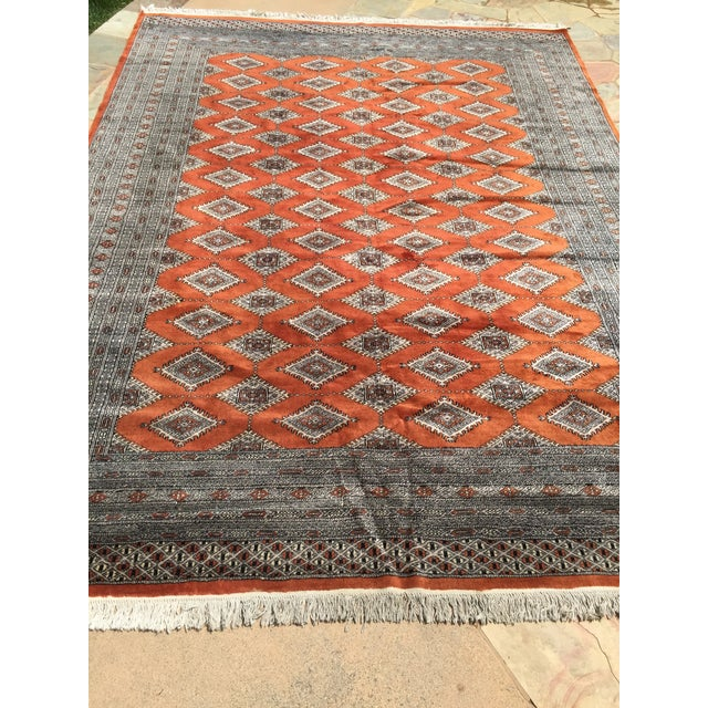 Red Rust/Cream Royal Bokhara Rug - 8′3″ × 11′3″ For Sale - Image 4 of 11