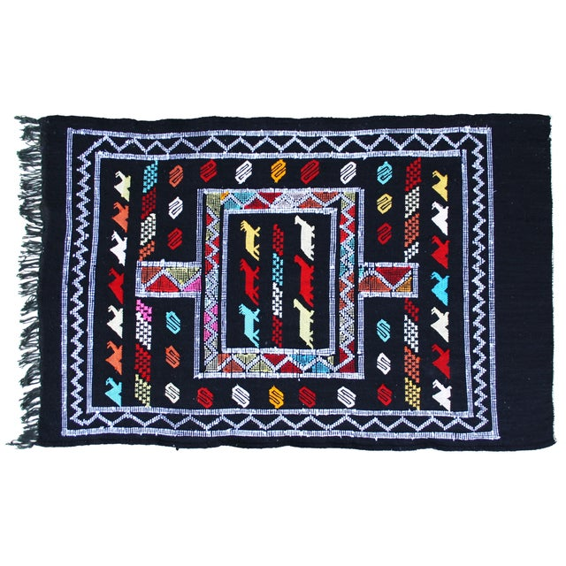 Handwoven Moroccan Rug - 3′ × 4′6″ For Sale