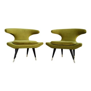 Mid-Century Style Chartreuse Chairs - A Pair