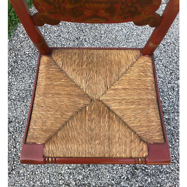 Americana Vintage Mid-Century L. Hitchcock Turtle Back Chair For Sale - Image 3 of 7