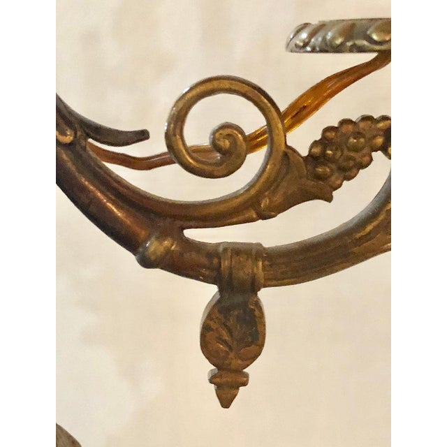 A Pair of 19th Century Neoclassical Style Figural Bronze Candelabras For Sale - Image 10 of 12
