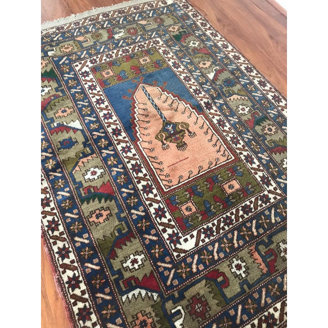 All of my rugs are vintage and Unique, İtem Description. # Natural organic wool vintage Anatolian Turkish Rug # Rug : has...