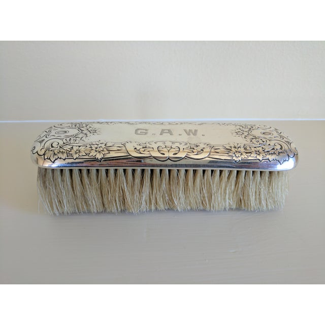 Gorham Sterling Silver Monogrammed Vanity Clothes Brush - Image 4 of 9