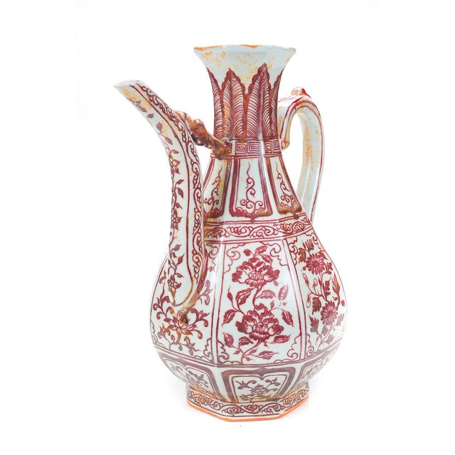 """Chinese """"Red & White"""" Porcelain Ewer - Image 3 of 8"""