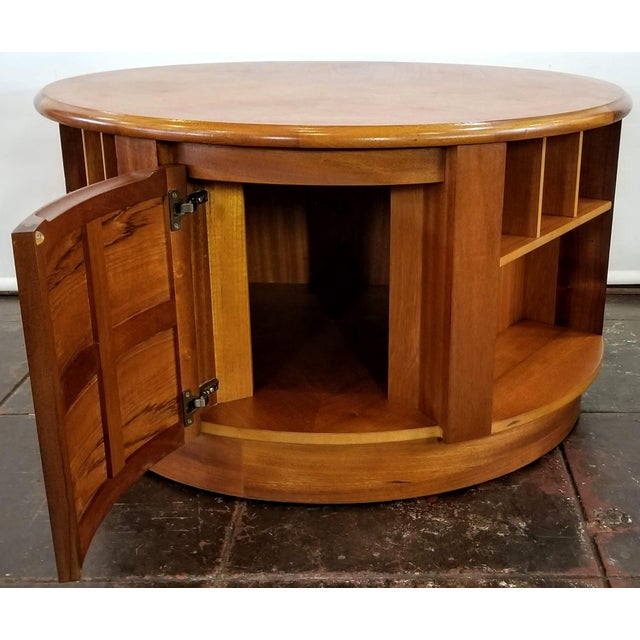 Mid Century Modern Man Cave /Bookcase/Bar / Storage Coffee Table By: Nathan For Sale - Image 11 of 13
