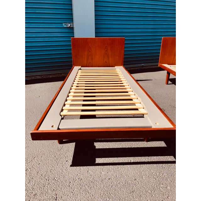 European Twin Hans Wegner Platform Bedframes - a Pair For Sale - Image 6 of 10