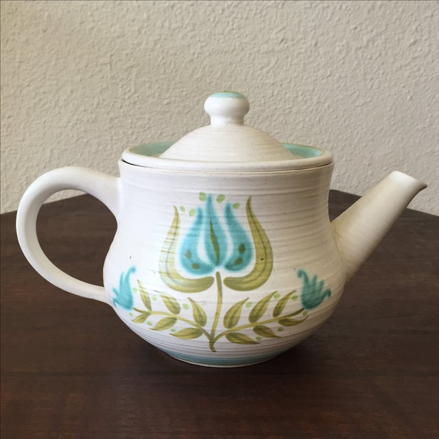 Franciscan Earthenware Mid-Century Floral Teapot - Image 2 of 8