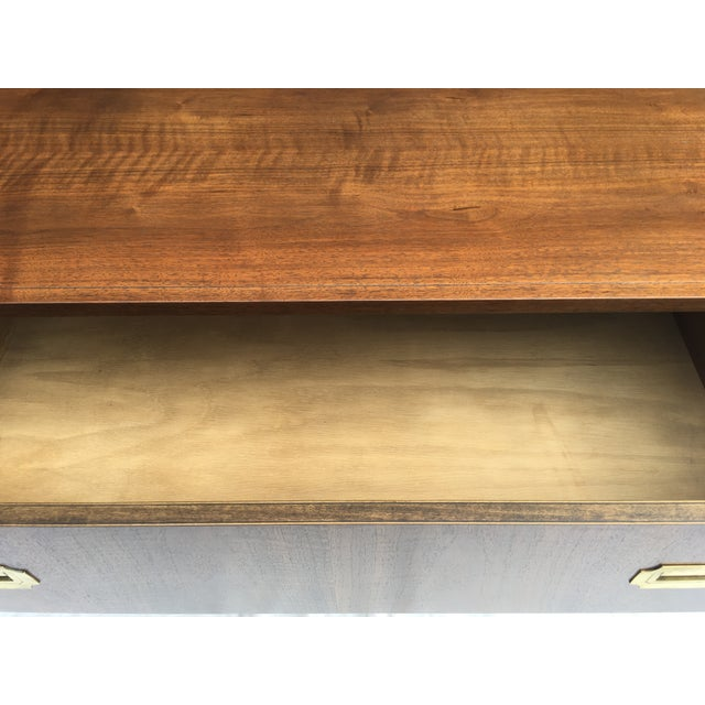 Burnt Umber Baker Furniture Low Campaign Chest For Sale - Image 8 of 12