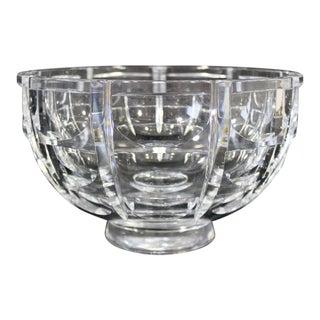 Orrefors Mid Century Modern Glass Art Bowl Table, Signed For Sale