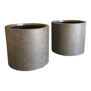 Forms and Surfaces Fiberglass Planters - A Pair For Sale