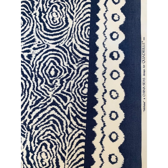 Abstract Quadrille Alan Campbell Meloire Reverse Suncloth Fabric For Sale - Image 3 of 6