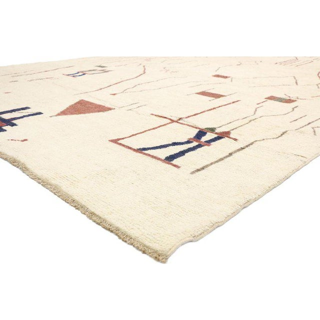 """Harry Bertoia Contemporary Moroccan Style Rug - 10′3"""" × 13′6″ For Sale - Image 4 of 9"""