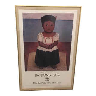 Framed Diego Rivera Exhibition Poster