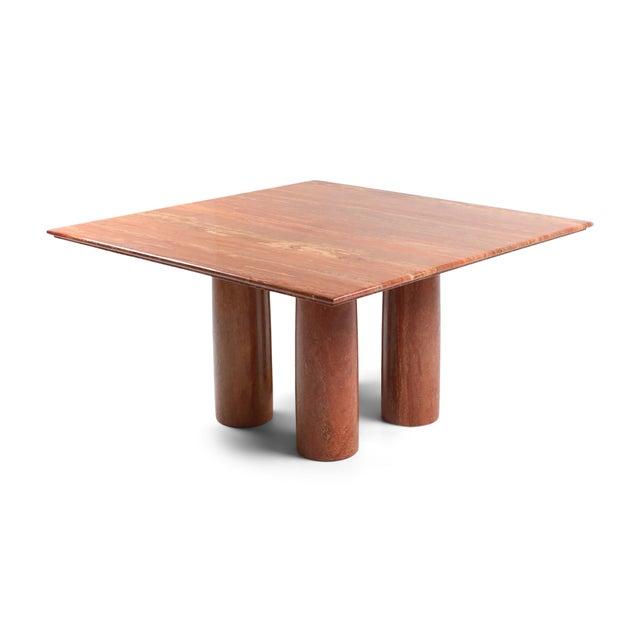 Mario Bellini's Red Travertine 'Il Collonato' Dining Table For Sale - Image 11 of 11