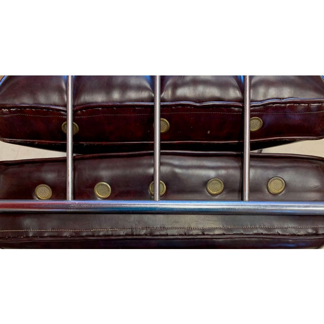 Oxblood Red Kem Weber Style Spring Lounge Chair For Sale - Image 8 of 13
