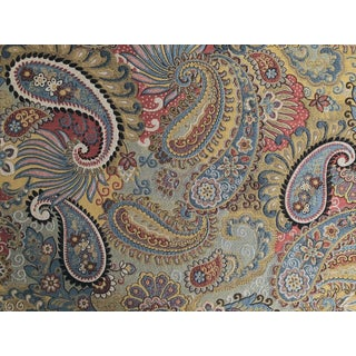 Boho Chic Brunschwig & Fils Torino Paisley Woven Designer Fabric by the Yard For Sale