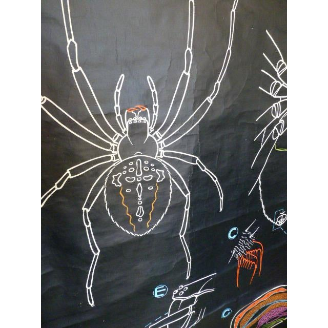 French Vintage Chalk Plate Garden Spider For Sale - Image 5 of 8
