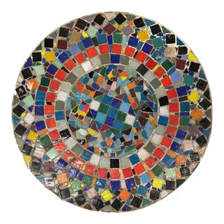 Colorful 1960s Tile Mosaic Table