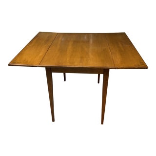 Mid Century L.Hitchcock Gold Stenciled Drop Leaf Dining Table For Sale