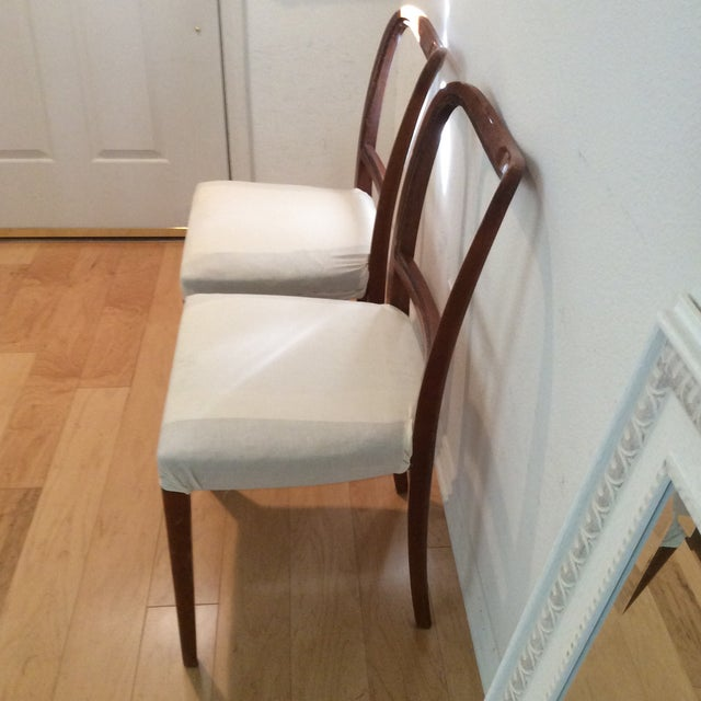 Late 19th Century Vintage Swedish Modern Dining / Side Chairs - a Pair For Sale - Image 5 of 7