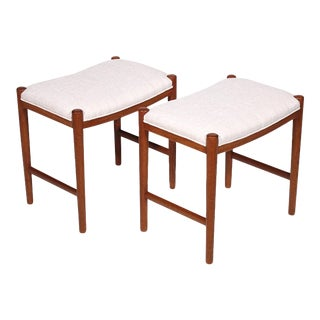Pair of Danish Stools For Sale