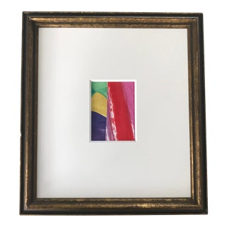 Original Abstract Collage in Vintage Frame For Sale