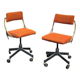195s Vintage DoMore Industrial Office Chairs- A Pair For Sale