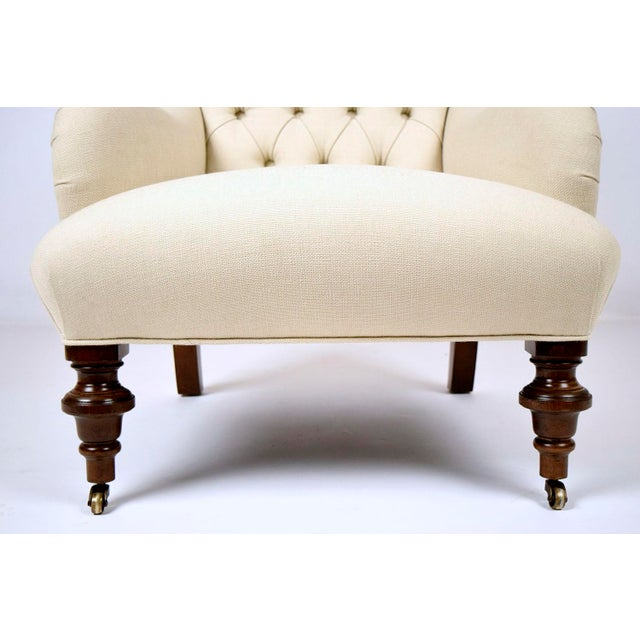 Continental-Style Tufted Bergeres - A Pair - Image 10 of 11