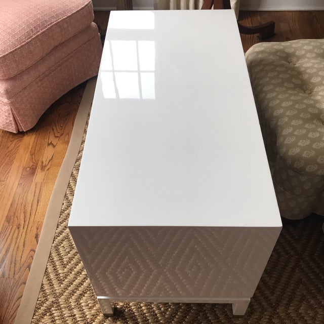 White Harvey Probber White Lacquered Side Table For Sale - Image 8 of 10