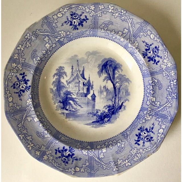 Davenport Antique English Staffordshire Chinoiserie Soup Bowls-Davenport For Sale - Image 4 of 10