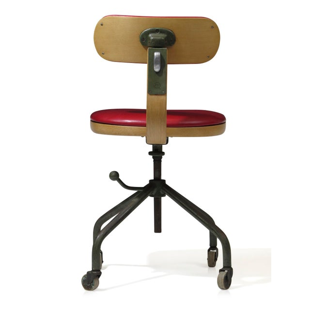 Danish Modern 1931 Jorgen Rasmussen for Fritz Hansen Office Chair For Sale - Image 3 of 9