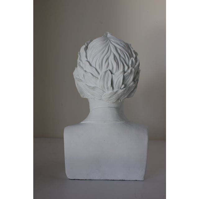 American Vintage Male Bust With Laurel Wreath For Sale - Image 3 of 5