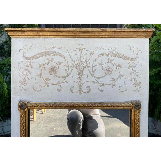 Palladio Palladio Hollywood Regency Trumeau Mirror For Sale - Image 4 of 5