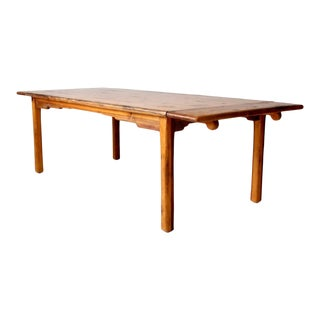 Vintage Pine Wood Dining Table For Sale