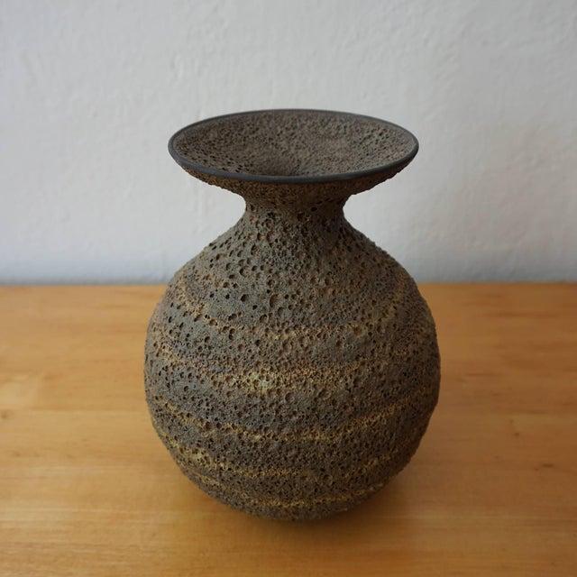 Mid-Century Modern James Lovera Lava Glaze Ceramic Vase For Sale - Image 3 of 6