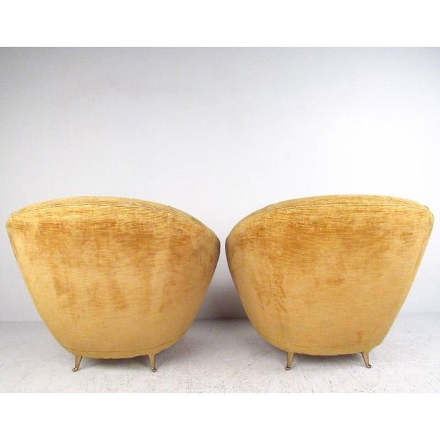 Marco Zanuso Style Lounge Chairs - a Pair For Sale In New York - Image 6 of 10