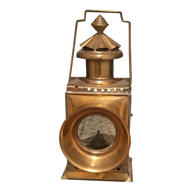 Solid Brass Oil Lantern - Image 1 of 5