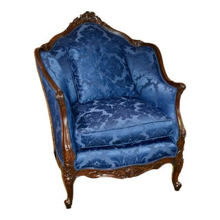 Vintage Jamestown Lounge Co. Carved Ornate French Style Chair For Sale
